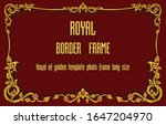 royal golden vintage ornament... | Shutterstock .eps vector #1647204970