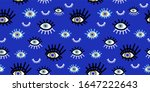 angry seeing eye symbol eyelash ... | Shutterstock .eps vector #1647222643