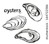 Oysters Set Isolated On A White ...