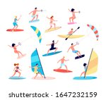 water sports. canoes  extreme... | Shutterstock .eps vector #1647232159