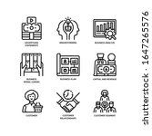 business model canvas icons set ...   Shutterstock .eps vector #1647265576