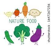cute vegetable character on... | Shutterstock .eps vector #1647267256