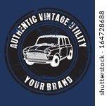 vintage car | Shutterstock .eps vector #164728688