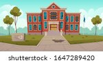 abandoned old school with... | Shutterstock .eps vector #1647289420
