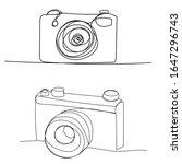 vector  isolated  single line... | Shutterstock .eps vector #1647296743