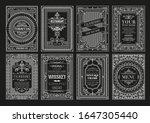 set of dark borders photo... | Shutterstock .eps vector #1647305440