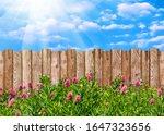 Wooden Garden Fence At Backyard ...
