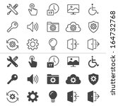 setting thin icons  included... | Shutterstock .eps vector #164732768