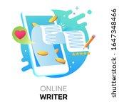 Online Writer On Mobile Digital ...