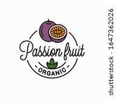 passion fruit logo. round... | Shutterstock .eps vector #1647362026