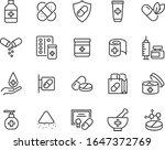 set of medicine icons  pills ... | Shutterstock .eps vector #1647372769
