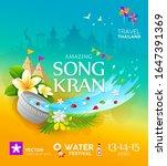songkran festival travel... | Shutterstock .eps vector #1647391369