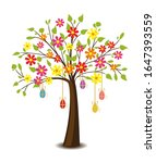 vector illustration of tree... | Shutterstock .eps vector #1647393559