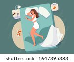 sleep control concept vector... | Shutterstock .eps vector #1647395383