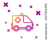 color line ambulance and... | Shutterstock .eps vector #1647401590