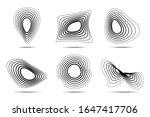 3d circular striped emblem set. ...   Shutterstock .eps vector #1647417706