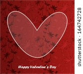 valentine day card with floral... | Shutterstock .eps vector #164742728