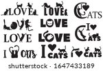 set of love inscriptions with... | Shutterstock .eps vector #1647433189