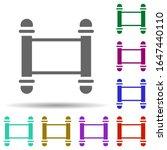torah in multi color style icon....