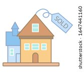 house sold sign icon. simple...