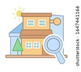 real estate search icon. simple ...