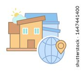 houses global location icon....