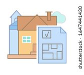 drawing house plan icon. simple ...