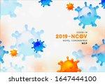 novel coronavirus  2019 ncov .... | Shutterstock .eps vector #1647444100