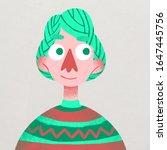 Square Textured Portrait Of...