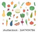 vector vegetables icons set....   Shutterstock .eps vector #1647454786