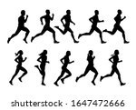 running people  vector runners  ... | Shutterstock .eps vector #1647472666