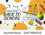 welcome back to school web... | Shutterstock .eps vector #1647486010