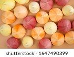 meringue kisses in rainbow... | Shutterstock . vector #1647490399