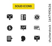 work icons set with return...