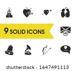 love icons set with church ...