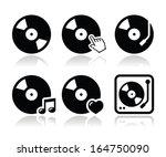 Vinyl Record  Dj Vector Icons...