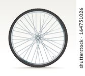 3d bike wheel   vector... | Shutterstock .eps vector #164751026