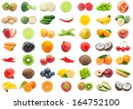 collection of various fruits... | Shutterstock . vector #164752100