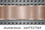 Background Of Silver Perforate...