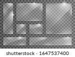 glass transparent banners.... | Shutterstock .eps vector #1647537400