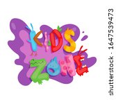 kids zone colorful banner.... | Shutterstock .eps vector #1647539473