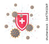 immune system concept with... | Shutterstock .eps vector #1647541069