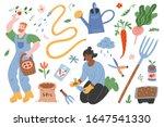 garden set  people gardening ... | Shutterstock .eps vector #1647541330