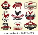 collection of premium beef ... | Shutterstock .eps vector #164754329