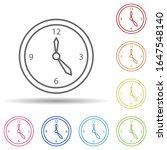 clock in multi color style icon....