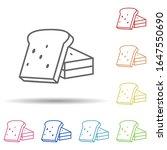 sliced   bread in multi color...
