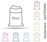 flour in a bag in multi color...