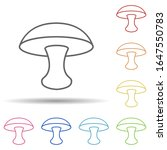 mushroom in multi color style...