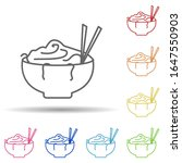 noodles in multi color style...