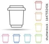 plastic cup in multi color...